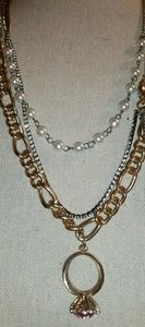 Juicy Couture Gold, Multi-Strand, Charm & Crystal
